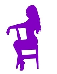 Sexy Girl on Chair v5 Decal Sticker