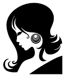Girls Hair v4 Decal Sticker