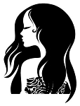 Girls Hair v5 Decal Sticker