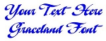 Graceland Font Decal Sticker