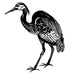 Great Heron Decal Sticker