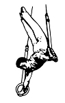 Gymnast Male Rings 1 Decal Sticker