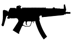 HK MP5 Silhouette Decal Sticker