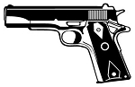 Handgun v2 Decal Sticker