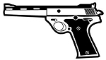 Handgun v5 Decal Sticker