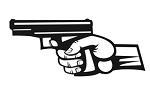 Handgun v7 Decal Sticker