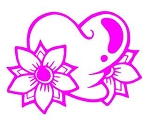 Heart with Flowers Decal Sticker