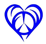 Heart with Peace Sign Decal Sticker