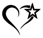 Heart with Star Decal Sticker