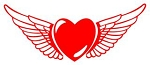 Heart With Wings v2 Decal Sticker