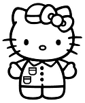 Hello Kitty v2 Decal Sticker
