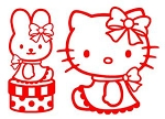 Hello Kitty v6 Decal Sticker