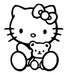 Hello Kitty v7 Decal Sticker
