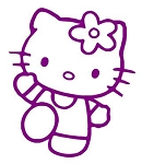 Hello Kitty v8 Decal Sticker