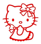 Hello Kitty v9 Decal Sticker