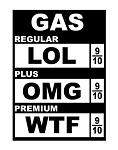 High Gas Prices Decal Sticker