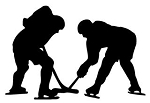 Hockey Faceoff Silhouette Decal Sticker