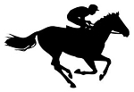Horse Racing Silhouette v1 Decal Sticker