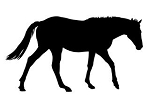 Horse Silhouette v10 Decal Sticker