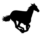 Horse Silhouette v4 Decal Sticker