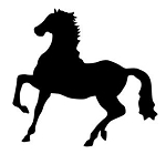 Horse Silhouette v6 Decal Sticker