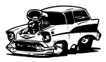 Hot Rod Cartoon v2 Decal Sticker