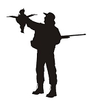 Hunter Silhouette v5 Decal Sticker