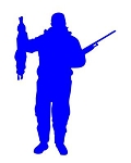 Hunter Silhouette v6 Decal Sticker