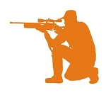 Hunter Silhouette v10 Decal Sticker