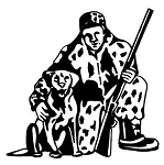 Hunter and Dog Decal Sticker
