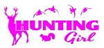 Hunting Girl v2 Decal Sticker