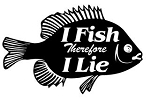 I Fish therefore I Lie Decal Sticker