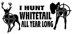 I Hunt Whitetail Decal Sticker