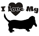 I Love My Basset Hound Decal Sticker
