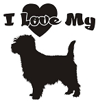 I Love My Cairn Terrier Decal Sticker