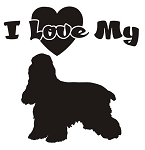 I Love My Cocker Spaniel Decal Sticker