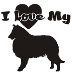 I Love My Collie Decal Sticker