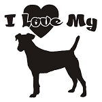I Love My Fox Terrier Decal Sticker