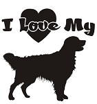 I Love My Golden Retriever Decal Sticker