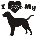 I Love My Labrador Decal Sticker