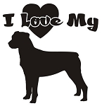 I Love My Rottweiler Decal Sticker