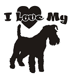 I Love My Schnauzer Decal Sticker