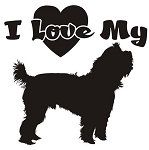 I Love My Yorkie Decal Sticker