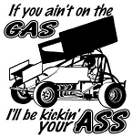 If You Ain't On The Gas Sprint Car Decal Sticker