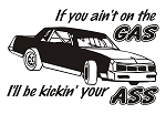 If You Ain't On the Gas Stock Car Decal Sticker