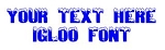 Igloo Font Decal Sticker