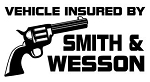 Insured by Smith & Wesson Decal Sticker