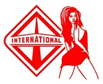 International Diesel with Girl v4 Decal Sticker