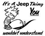 It's A Jeep Thing Decal Sticker