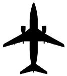 Jet Aircraft Silhouette v1 Decal Sticker